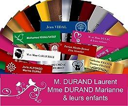 Zelfklevende pvc-brievenbusplaat, personaliseerbaar, 10 x 2,5 cm, 21 kleuren en 39 motieven verkrijgbaar (roze + tekening)