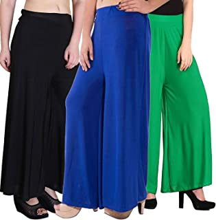 Pixie Casual Wear Pant Palazzo Combo (Pack of 3) - Free Size