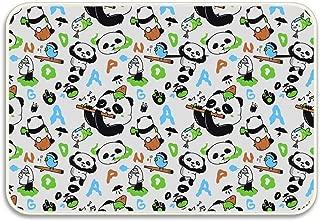 Ranhkdn Panda Playing Flute Door Mat for Indoor/Outdoor,Entry,Garage,Patio,Shoe Rugs
