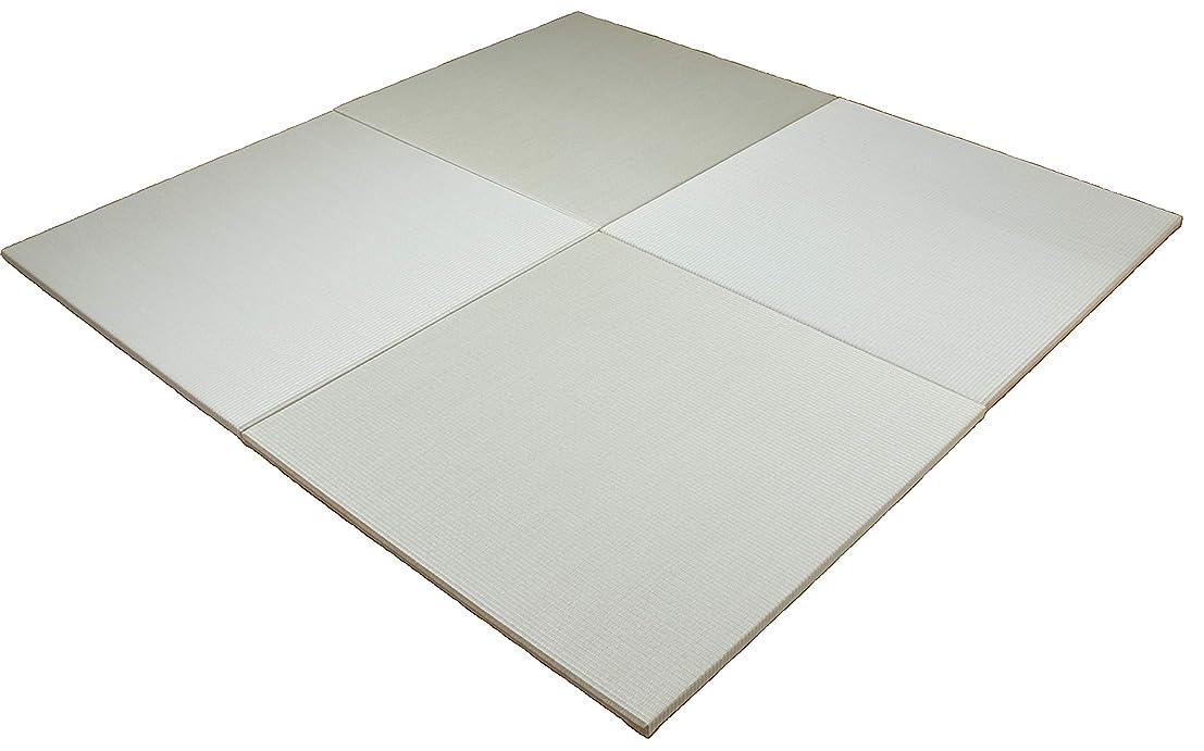 検査官ヒゲ検証琉球畳風 縁無し置き畳 『座90』 4枚組 1枚のサイズ:900mm×900mm 厚み:25mm