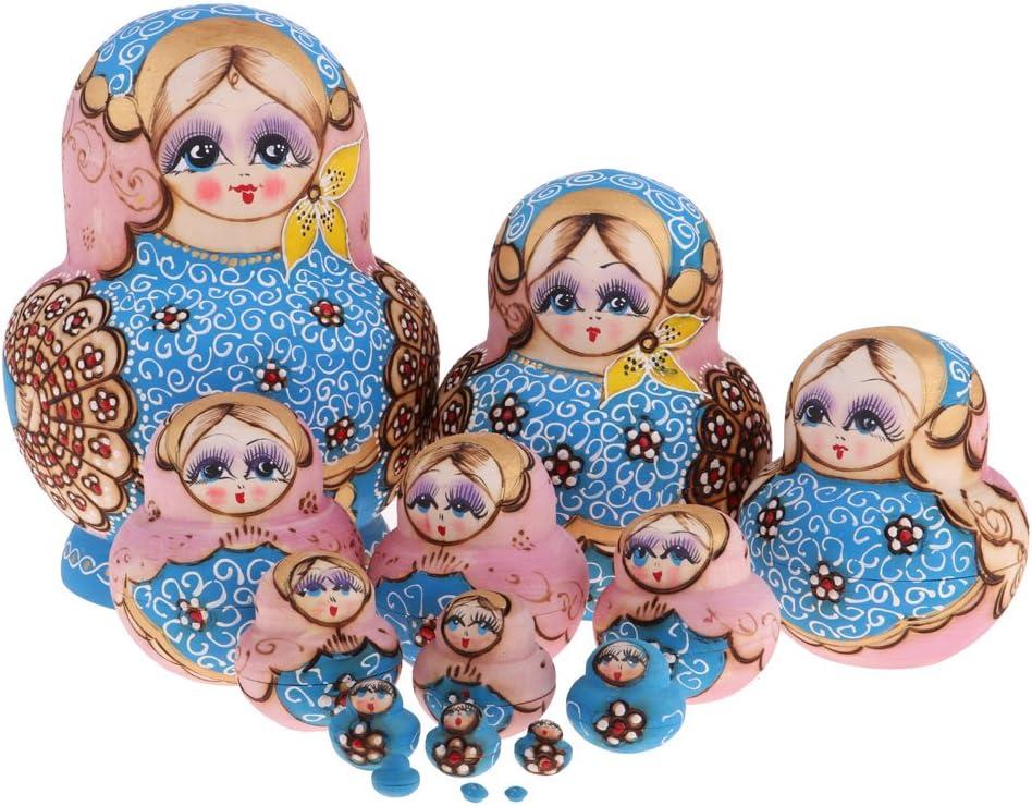 NC Vintage Girls Russian Babushka 2021 model free shipping Dolls for Nesting Matryoshka