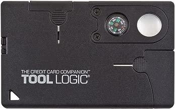 Tool Logic Credit Card Companion with Lens/Compass CC1SB - 9 Tools, Black, 2