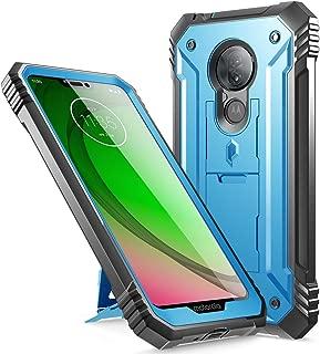 Moto G7 Power Case, Moto G7 Supra Case, Moto G7 Optimo Maxx Case, Poetic Full-Body Heavy Duty Rugged Case, Built-in Screen Protector, Shockproof Defender Case,DO NOT FIT Moto G7 / Moto G7 Play, Blue