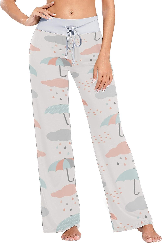 AQQA Wide Selling Leg Lounge Pant Cartoon Colorful P Umbrella Funny Cute New product type
