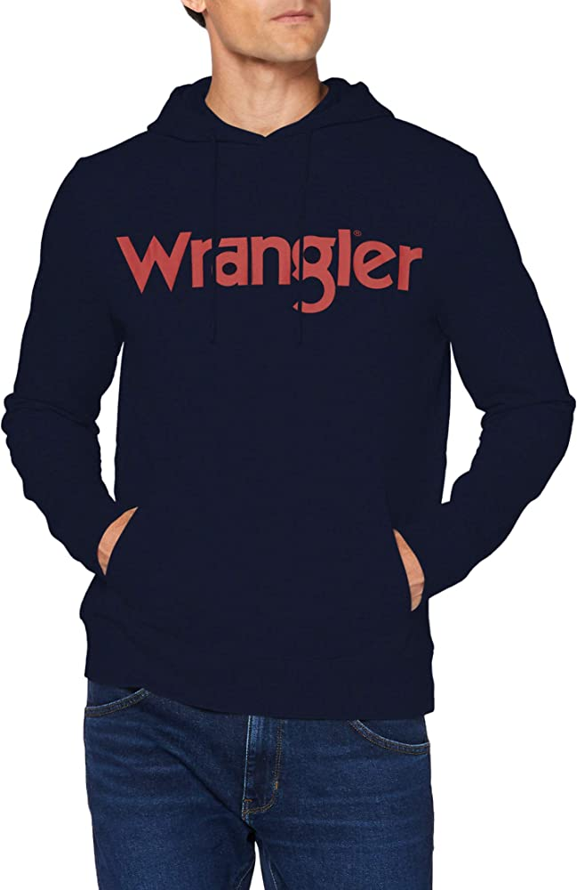 Wrangler logo hoodie ,felpa con cappuccio per uomo,in 100% cotone W6M7HY114