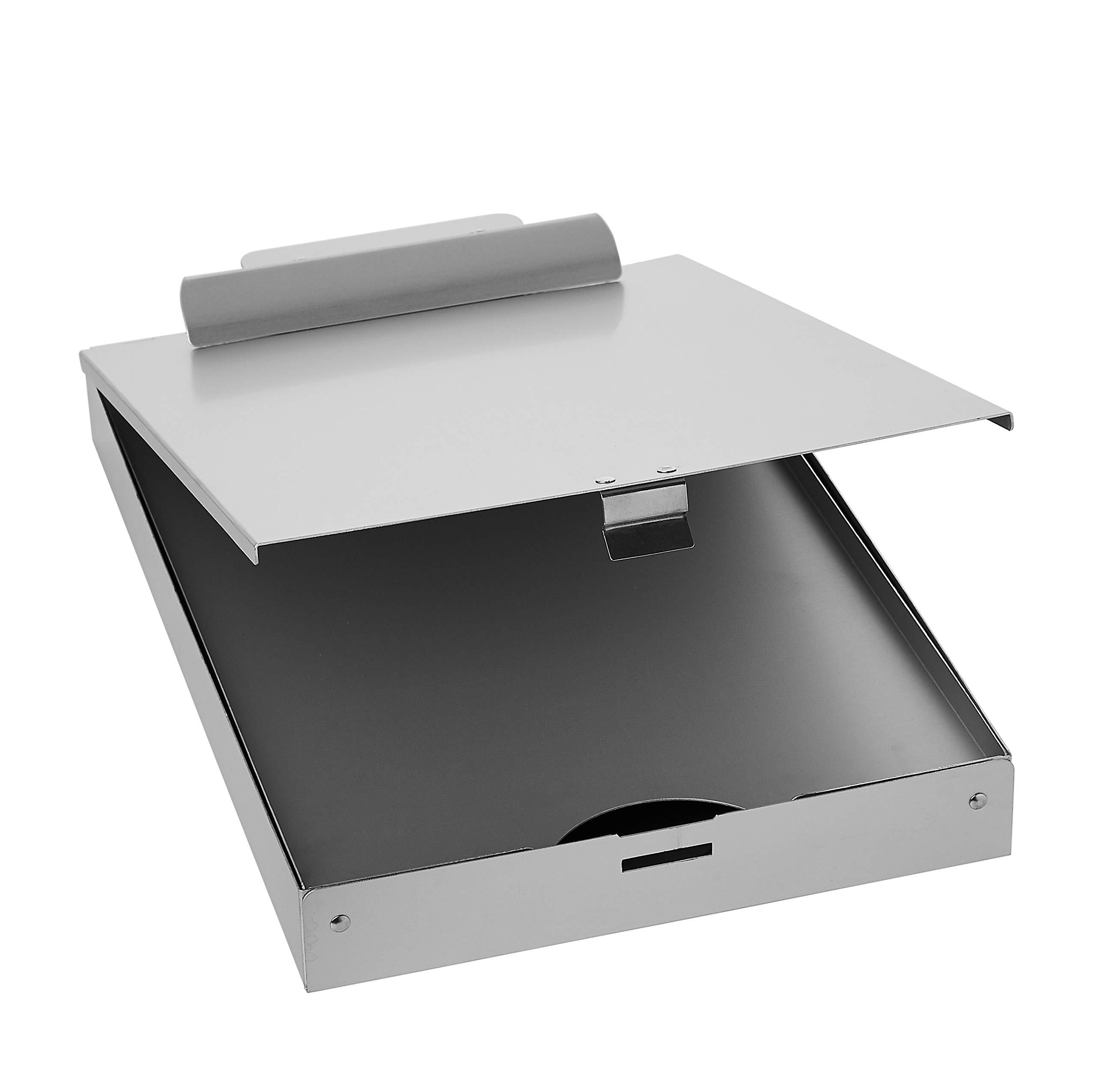 AmazonBasics Portapapeles de metal de tres niveles: Amazon.es: Oficina y papelería