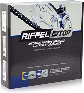 Kit Relação Transmissão Yamaha XTZ 250 Ténéré (10-18) / Lander (09-20) com retentor (O-ring) TOP Aço 1045 Riffel 91129