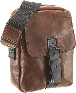 Bugatti Smoky kleine Umhängetasche für Herren Schultertasche Leder, Messenger Bag Kuriertasche, Braun
