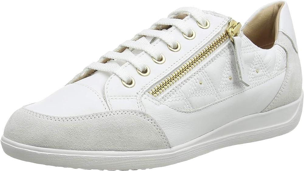 Geox d myria b, mocassini,sneaker casual da donna donna,in pelle D0468C08522
