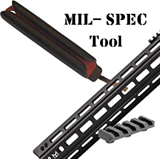 MIL-SPEC Tool Designed for -M-LOK- Compatible Accessories Easily seat & unseat Nuts When Installing & Removing M-LOK -Compatible Accessories, Including Picatinny Rails Bipod Sling Swivel