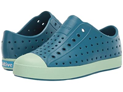 Native Kids Shoes Jefferson (Little Kid/Big Kid) (Depth Blue/Celtuse Green) Kid