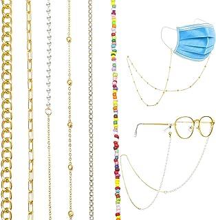 17 MILE 6 PCS Face Mask Chain Holder Glasses Chain Lanyard for Women Girls Gold/