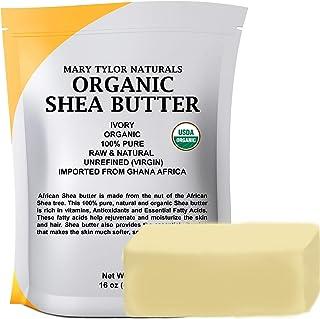 Organic Shea butter (1 lb) USDA Certified, Raw, Unrefined, Ivory From Ghana Africa, Amazing Skin Nourishment, Eczema, Stre...