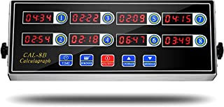 BIZOEPRO 8 Channel Digital Kitchen Timer Cooking Timer Reminder Commercial Burger Bakery Restaurant Clock Loud Alarm Stainless Steel LED Display Calculagraph Timer
