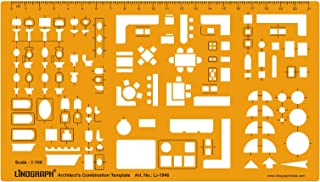 Architect Combination Design Template Stencil Symbols Technical Drafting And Drawing Scale 1:100