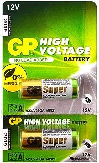 2pcs GP 23AE 12V Alkaline Batteries