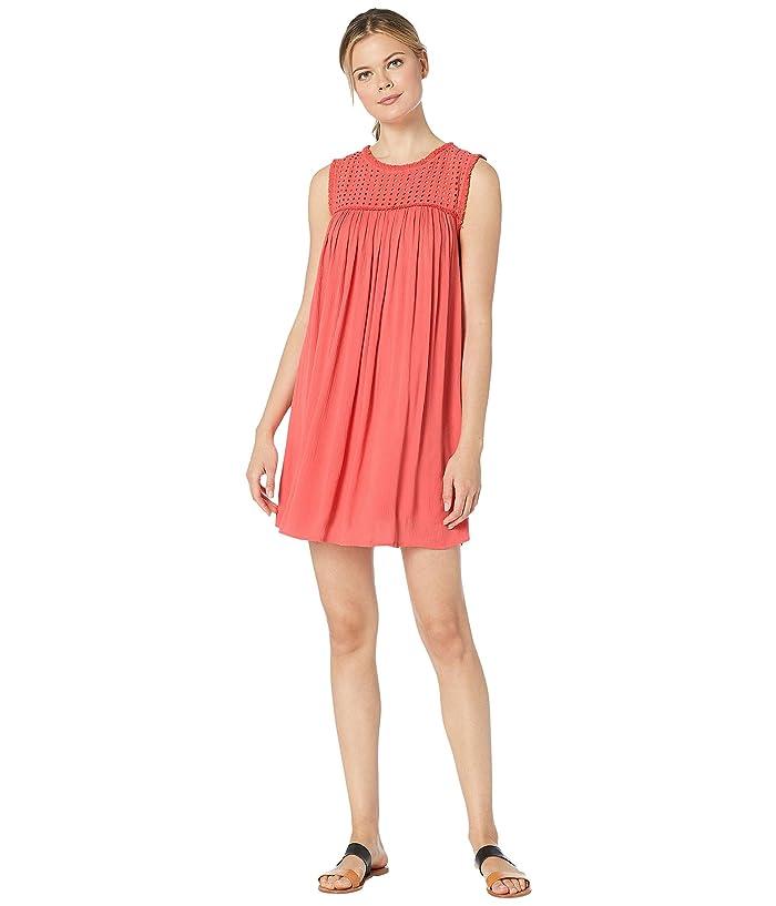 Tommy Bahama Crinkle Rayon Sleeveless Dress (Paradise Coral) Women