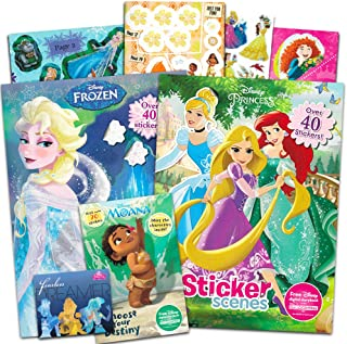 Disney Princess Coloring and Activity Book Super Set -- Bundle Includes 3 Deluxe Disney Princess Coloring Books with Over 175 Stickers