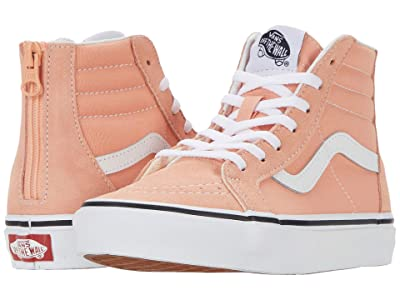 Vans Kids Sk8-Hi Zip (Little Kid) (Salmon/True White) Girls Shoes