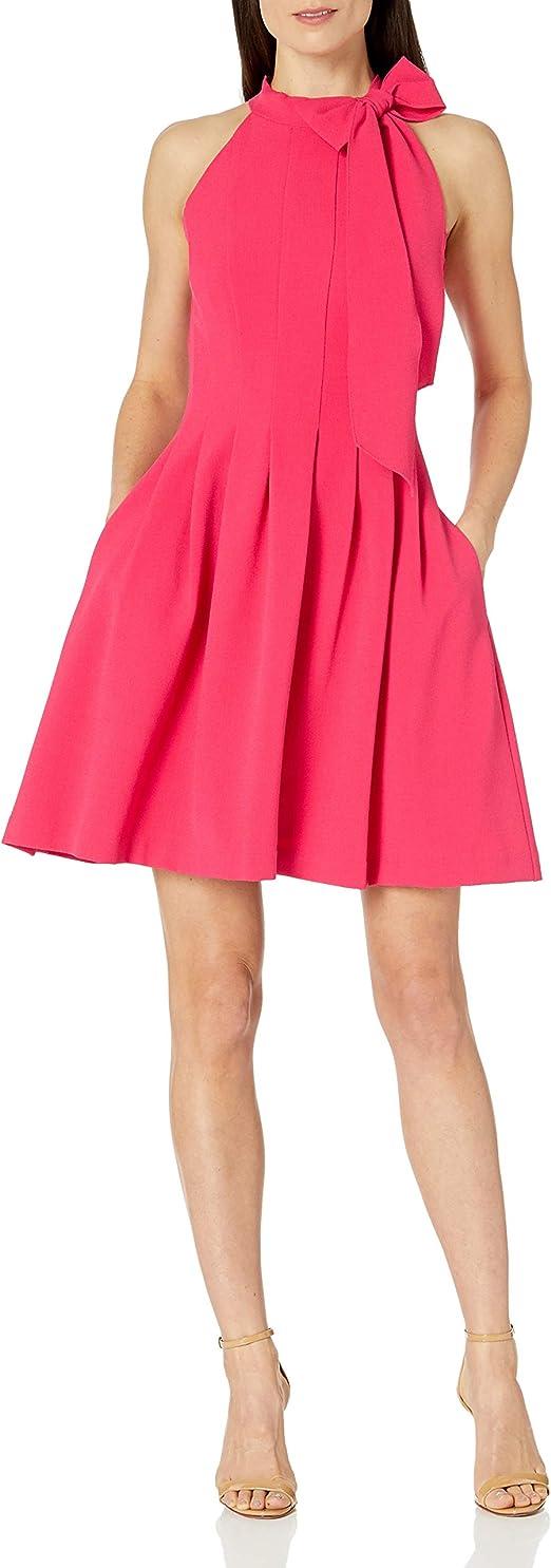 Choose SZ//color Details about  /Vince Camuto Women/'s Halter Bow Neck Dress