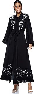 Nukhbaa Women's Abaya, Black