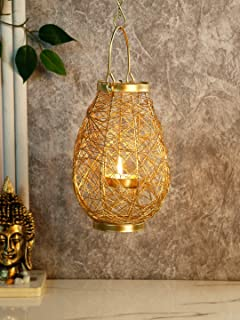 CraftVatika Tealight Candle Holders Hanging Metal Candle Holder Stand for Wall Christmas Home Decoration Indoor Outdoor Ta...