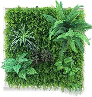 XEWNEG Artificial Wall Plants With Flower - High Density Greenery Flower Panels Garden Outdoor Wedding Wall Backdrop Decor...