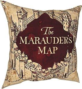 Lindseycc Harry Marauders-Map Potter Luxury Throw Pillow Covers Cushion Decor Waist Pillowcase for Home Sofa Bed Car Chair Office