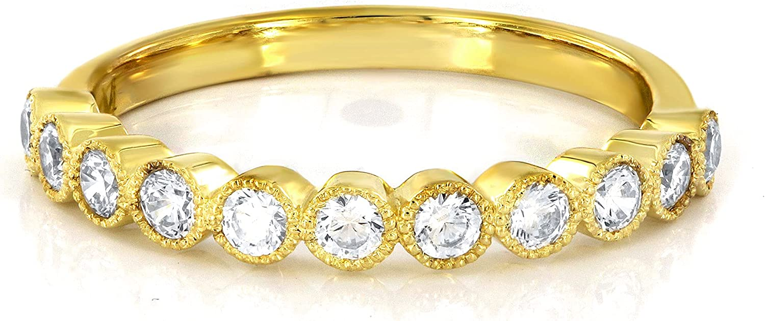 0.52 cttw Round-Cut Half Eternity Diamond 10K in Wedding Go Topics on Ranking integrated 1st place TV Band