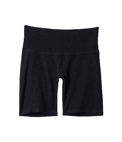 Beyond Yoga Plus Size High Waisted Biker Shorts (Darkest Night) Women
