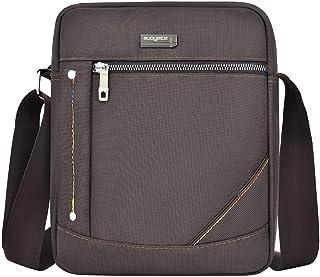 Ultramall Men's Women's Fashion Casual Nylon Business Shoulder Bag Solid Color Outdoor Zipper Messenger Bags For Women