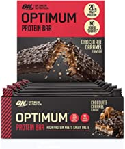 Optimum Nutrition Protein Bar with Whey Protein Isolate Low Carb High Protein Snacks with No Added Sugar Chocolate Caramel 10 Bar 10 x 60 g Estimated Price : £ 15,95
