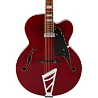 D'Angelico Premier Series EXL-1 Hollowbody Electric Guitar with Stairstep Tailpiece (Transparent Wine)