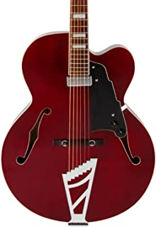 D'Angelico Premier EXL-1 Hollow-Body Electric Guitar w/ Stairstep Tailpiece - Trans Wine