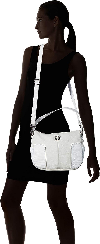 ctta caminatta S3652, Sac pour femme à porter à l'épaule 12x23x27 cm (W x H x L) Gris (Gris Perla 15)