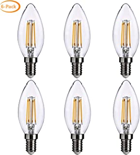 DGO LED Bulb B10(B11), E12 Candelabra Base, Dimmable, 40w Replacement