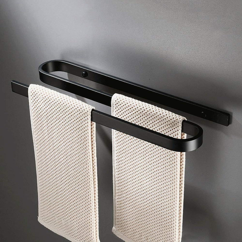 alta calidad Slizone American Personality Towel Bar Creativo Doble Colgante de de de Parojo Toallero Estante Cuarto de bao Perforación de rieles de Toalla Colgante (Color  Negro) (tamao   A Style)  nueva gama alta exclusiva