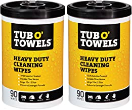 Tub O Towels Heavy-Duty Multi-Surface Cleaning Wipes, Citrus, 10 X 12 Inch, 2 Count