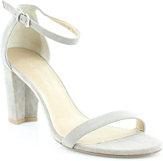 Stuart Weitzman Womens Nearlynude Suede Open Toe Casual, Fossil Suede, Size 9.5