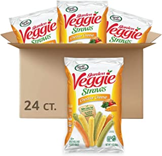 Sensible Portions Garden Veggie Straws, cheddar cheese,cheese, Snack Size, 24 Count