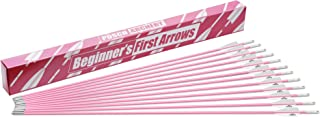 Posch Archery 30 inch Fiberglass Target Arrows (12 Pack) for Beginners, Boys, and Girls || Black or Pink || Arrow Compatible with Recurve Bow, Compound Bow and Longbow