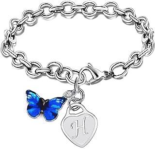 Initial Bracelet Butterfly Charm Bracelets For Women Girls Bracelets Jewelry Friendship Best Friends Gifts