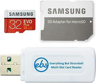 بطاقة ذاكرة Micro SDHC من Samsung Evo Plus سعة 32 جيجابايت فئة 10 (MB-MC32G) تعمل مع هواتف أندرويد Galaxy A10e, A10s, A30...