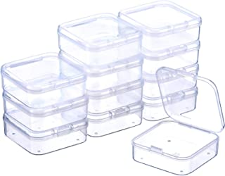 Transparent Plastic Storage Bottle for Jewelry Earring Beads Sewing Pills Beads DIY Diamond Organizers Pomeat 1Pack//12 Grids Multi-Purpose Bead Storage Containers