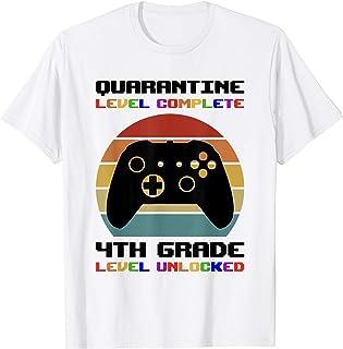 Back To School 2020 Quarantine 4th Grade Level Unlocked Game T-Shirt