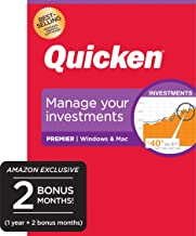 Quicken Premier Personal Finance - Maximize Your Investments [Amazon Exclusive] [PC/Mac Disc]