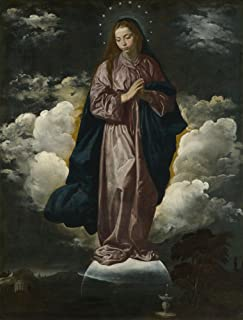 The Museum Outlet - Diego Velázquez - The Immaculate Conception, Stretched Canvas Gallery Wrapped. 11.7x16.5