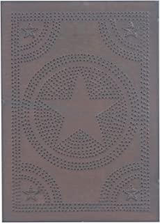 Irvin's Country Tinware Regular Star Panel in Blackened Tin