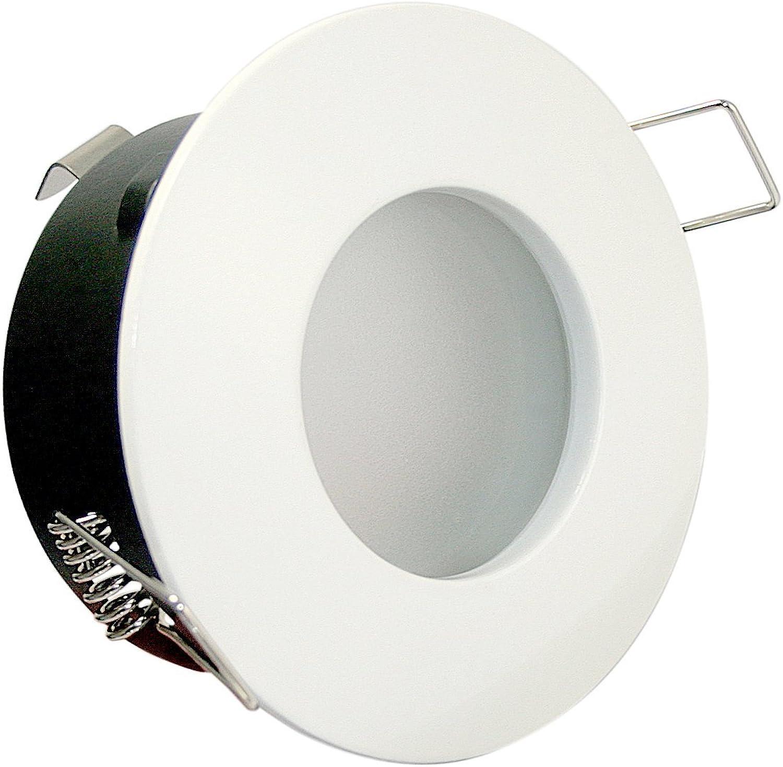 3er Set 5Watt COB LED Badezimmer Einbaustrahler Bdermax 230Volt Deckenleuchte - IP65 - LED Kaltweiss Farbe  Wei - Für Bad Dusche und Aussenbereich.