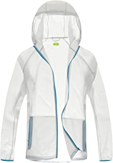 Thorn Bird Men's Super Lightweight Jacket Quick Dry Windbreaker UV Protect Coat (XXL-Large, White)